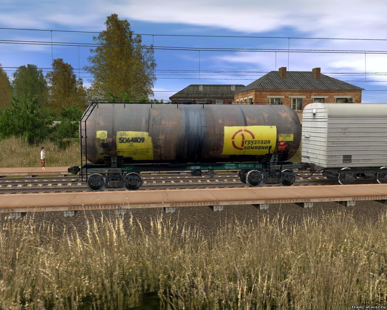 Длинный,ну оочень длинный поезд в Trainz) - YouTube